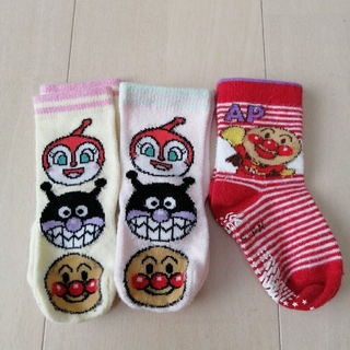 アンパンマン(アンパンマン)の靴下 12〜15センチ 3足セット アンパンマン ドキンちゃん 女の子(靴下/タイツ)