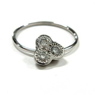 デビアス リング美品  - K18WG 3Pダイヤ(リング(指輪))