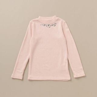 メゾピアノ(mezzo piano)のmiyu様専用です。新品⭐メゾピアノ⭐保温 ビジューつきテレコTシャツ(Tシャツ/カットソー)