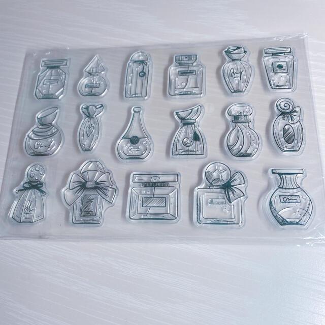 【No.12】クリアスタンプ 香水 インテリア/住まい/日用品の文房具(印鑑/スタンプ/朱肉)の商品写真