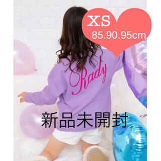 Rady - ちびradyロンT  紫バック文字 XS(85.90.95)