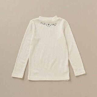 メゾピアノ(mezzo piano)のメゾピアノ 保温 ビジューつきテレコTシャツ 新品(Tシャツ/カットソー)