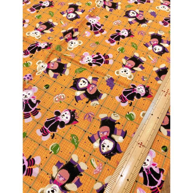 ダッフィー(ダッフィー)のディズニー ダッフィー 海外 ビンテージ風生地 レア ハギレ ハロウィン  ハンドメイドの素材/材料(生地/糸)の商品写真