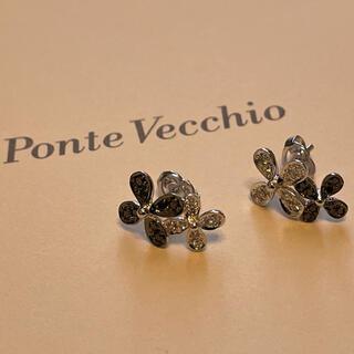 PonteVecchio - 保証書ありPonte Vecchioポンテヴェキオ フラワーダイヤモンドピアス
