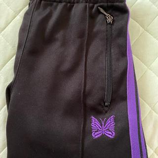 Needles - Needles トラックパンツ 黒紫 ストレート Sサイズ