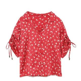 リリーブラウン(Lily Brown)の【Lily Brown】小花柄開襟シャツ(シャツ/ブラウス(半袖/袖なし))