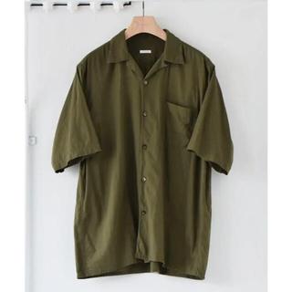 COMOLI - comoli 21ss ベタシャンオープンカラーシャツ オリーブ サイズ2