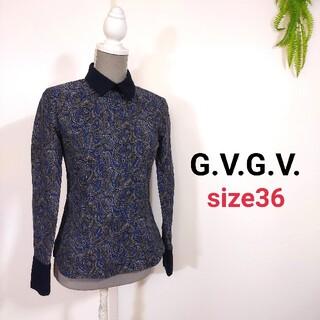 ジーヴィジーヴィ(G.V.G.V.)のG.V.G.V. ペイズリー柄 プルオーバー・やや厚手トップス 79449(シャツ/ブラウス(長袖/七分))