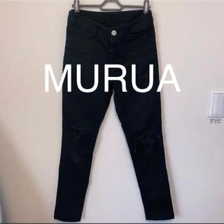 MURUA - 黒スキニーパンツ MURUA ムルーア ブラック 黒 スキニー
