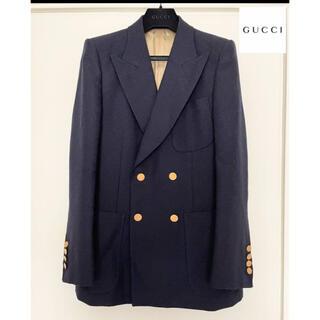 グッチ(Gucci)の新品未使用 GUCCI ダブルブレステッド テーラード ジャケット 紺ブレ (テーラードジャケット)