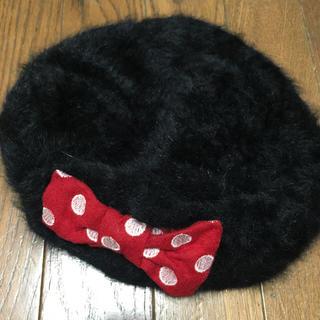 ディズニー(Disney)のミニー ベレー帽  ディズニー ランド リボン(ハンチング/ベレー帽)