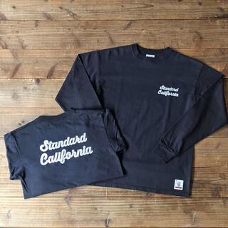 スタンダードカリフォルニア(STANDARD CALIFORNIA)のスタンダードカリフォルニア ロンT ブラック 店舗限定品 XL(Tシャツ/カットソー(七分/長袖))