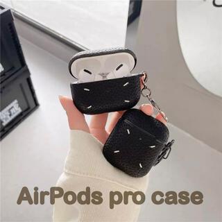 a 【匿名配送】AirPods pro  レザー刺繍ケース