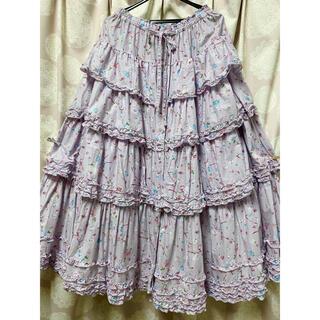 ピンクハウス(PINK HOUSE)の✴️お値下げ✴️新品未使用✨ピンクハウス🌹2019年🌹メリーローズ柄スカート(ロングスカート)
