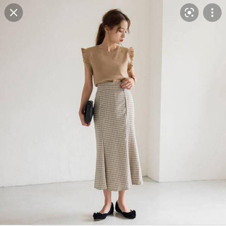 dholic - チェックパターンマーメイドぺプラムスカート