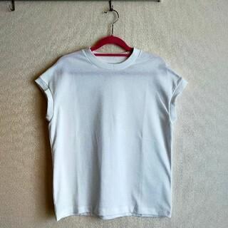 ムジルシリョウヒン(MUJI (無印良品))の【新品未使用】無印良品フレンチスリーブTシャツ(Tシャツ(半袖/袖なし))