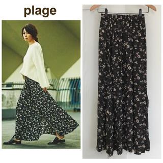 プラージュ(Plage)のplage 花柄 スカート 36(ロングスカート)