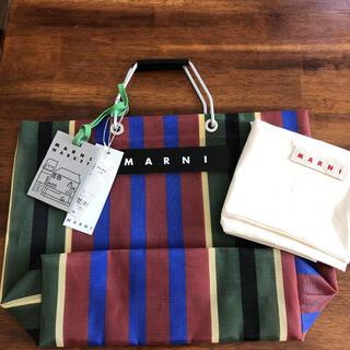 Marni - 新品未使用  マルニマーケット ストライプ トートバッグ
