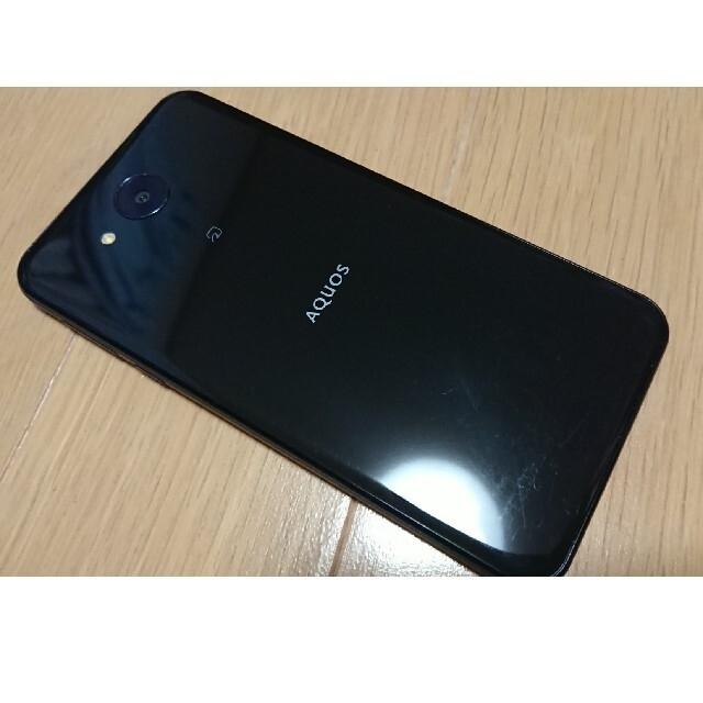 SHARP(シャープ)のSIMフリー SHARP AQOUS 606SH ブラック スマホ/家電/カメラのスマートフォン/携帯電話(スマートフォン本体)の商品写真