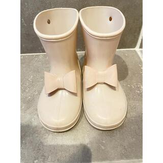 プティマイン(petit main)のプティマイン♡長靴♡ベージュ♡14センチ(長靴/レインシューズ)