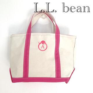 エルエルビーン(L.L.Bean)のトートバッグ エルエルビーン イニシャル A ピンク 犬(トートバッグ)