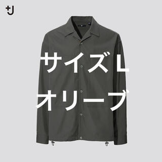 UNIQLO - UNIQLO +J スーピマコットンオーバーサイズシャツブルゾン(長袖)