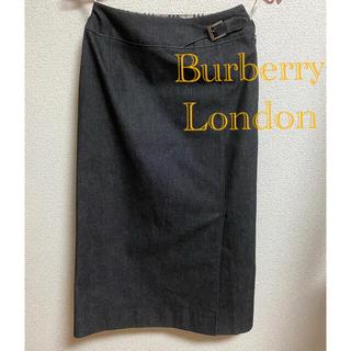 BURBERRY - BURBERRY LONDON ブラック デニム スカート  美品