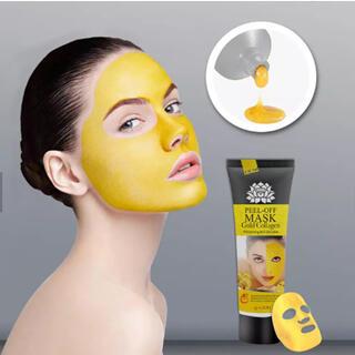 ゴールドコラーゲンマスク   美白♡美肌♡はがすタイプ♡にきび(ブラックヘッド)(パック/フェイスマスク)