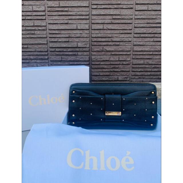 Chloe(クロエ)の箱と保存袋あり■本革×スタッズ■大丸購入■CHLOE クロエ 財布 ブラック レディースのファッション小物(財布)の商品写真
