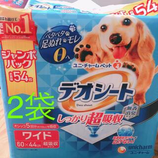 ユニチャーム(Unicharm)のユニチャーム デオシート ワイド 54枚 2袋(犬)