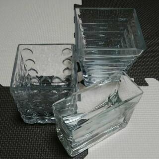 ガラス製 花瓶 置物 3個セット