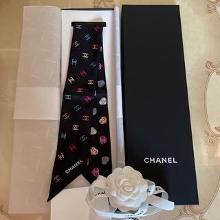 CHANEL - シャネル シルクツイル スカーフ CHANEL 新品 未使用 ヘアアクセサリー