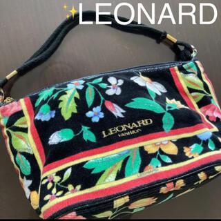 レオナール(LEONARD)の【美品)レオナールバック❤️レオナール   LEONARD 花柄 ハンドバック(ハンドバッグ)