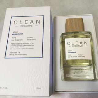 クリーン(CLEAN)の新品 クリーン リザーブ アクアネロリ 100ml 香水 正規品オードパルファム(ユニセックス)