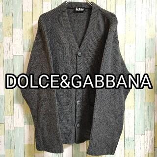 DOLCE&GABBANA - DOLCE&GABBANA ドルガバ ニット カーディガン ワンポイント M