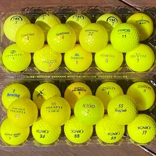 ゴルフボール GOLF ロストボール 黄色 イエロー 28個セット