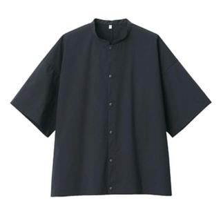 ムジルシリョウヒン(MUJI (無印良品))の無印良品 綿混ストレッチ半袖スタンドカラーシャツ(Tシャツ(半袖/袖なし))
