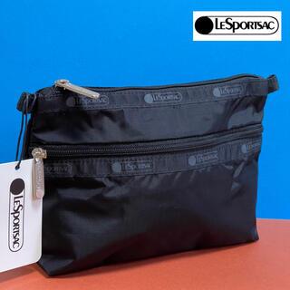 LeSportsac - LeSportsac クラッチ コスメティック 化粧ポーチ ブラック 新品