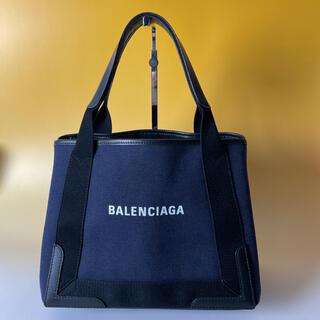 バレンシアガ(Balenciaga)のBALENCIAGA 美品 紺 ネイビーカバス S ハンドバッグ バレンシアガ(ハンドバッグ)