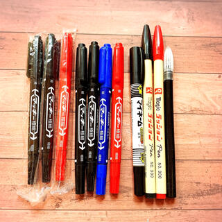 ゼブラ(ZEBRA)の油性ペン マッキー マイネーム ラッション ペン 赤黒青 新品含む 計11本 他(ペン/マーカー)