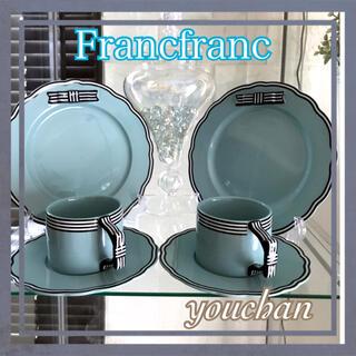 Francfranc - Francfranc リボン カップ&ソーサー &プレート