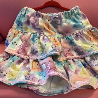 メゾピアノ(mezzo piano)のメゾピアノのクマさん柄キュロットスカートです!(スカート)