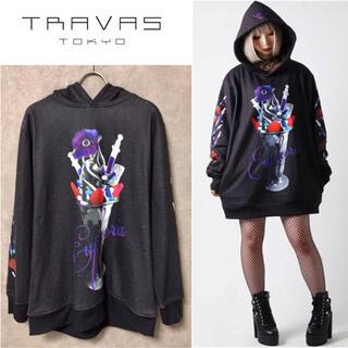 ミルクボーイ(MILKBOY)のTRAVAS TOKYO ケミカル パフェ プリント パーカー ブラック(パーカー)