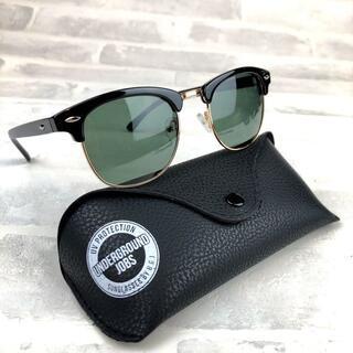 偏光サングラス UV400 ブラックグリーンスモーク