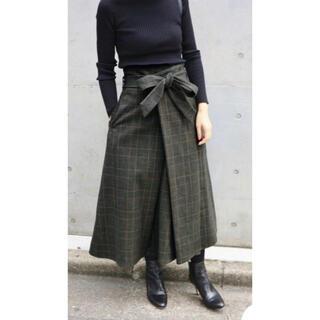 IENA - IENA 【CLASSY.】グレンチェックフレアスカート