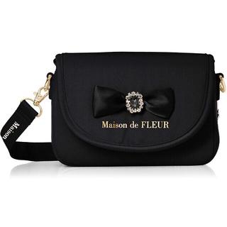 Maison de FLEUR - Maison de FLEUR リボンビジュー サテンカメラバッグ ブラック 黒