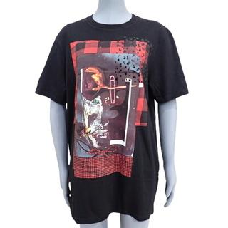 ディオールオム(DIOR HOMME)のディオール・オムトップス プリントTシャツ 黒 レッド赤 40802005525(Tシャツ/カットソー(半袖/袖なし))