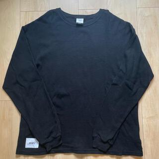 ダブルタップス(W)taps)の19SS WTAPS WAFFLE L/S TEE COTTON 黒01(Tシャツ/カットソー(七分/長袖))
