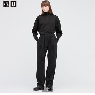 UNIQLO - UNIQLO U ブラック スウェットギャザーパンツ S