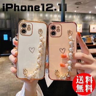 iPhoneケース 11 12 真珠 かわいい/スマホケース